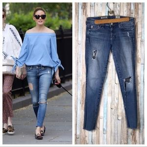 AG Jeans 27 The Legging Skinny 18 Years Destroyed